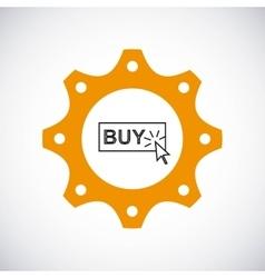 Buy button icon gear design graphic vector
