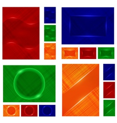 abstract background objects vector image vector image