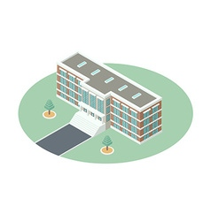 Administrative building in isometric projection vector