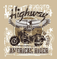 American highways rider revise vector