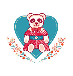 Baby toy panda isolated picture vector