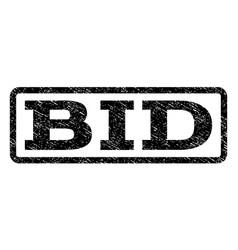 Bid watermark stamp vector
