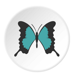 Butterfly with long wings icon circle vector