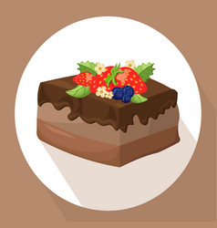 cakes icon template on white background vector image vector image