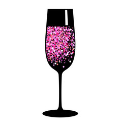 Champagne pink black glass vector