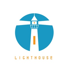 Concept template with lighthouse in flat design vector image