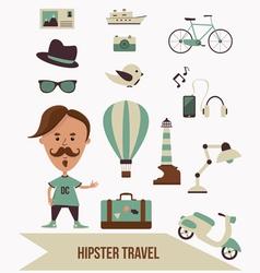 Hipster Travel Set vector image