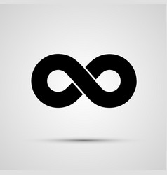 infinity icon black template design element vector image vector image