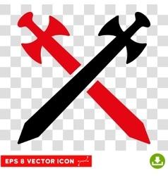 Medieval Swords Eps Icon vector image vector image