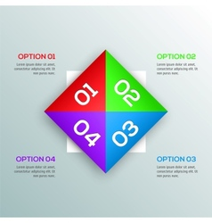 Modern Design template for your infographic vector image vector image