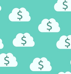 Money clouds seamless pattern vector image vector image