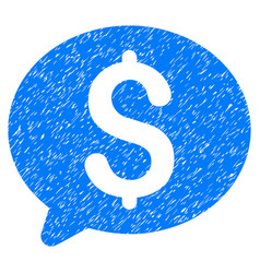 Money message grunge icon vector