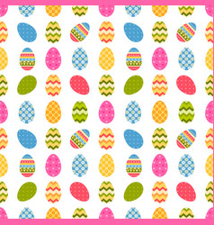 pattern with easter eggs vector image vector image