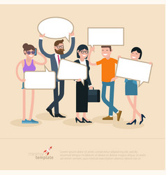 people opinion template vector image vector image
