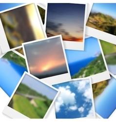 Polaroid photos abstract background vector