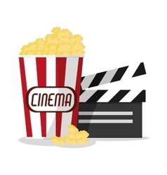 Pop corn cinema and movie design vector