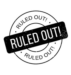 Ruled out rubber stamp vector