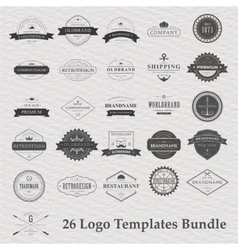 Set of vintage camping logo vector