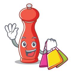 Shopping pepper mill character cartoon vector