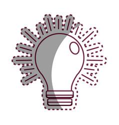 Sticker power light bulb on vector