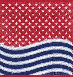 usa star background american patriotic vector image