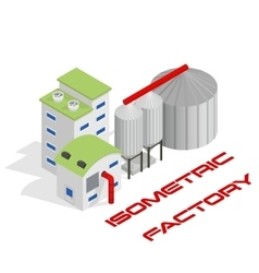 isometric modern industrial and vector image