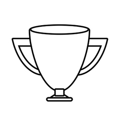 Silhouette trophy cup sports win vector