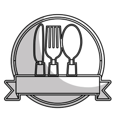 Dining cutlery icon image vector