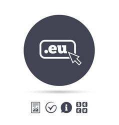 domain eu sign icon top-level internet domain vector image