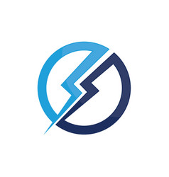 circle power logo electric vector image