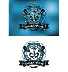 Nautical craftsman emblem vector