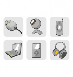gadgets icons vector image