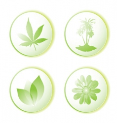 eco icon leaf vector image
