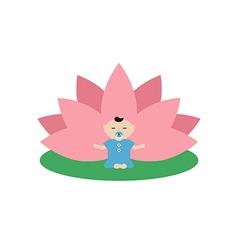 baby is doing yoga vector image