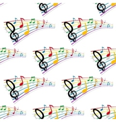 Seamless pattern of musical notes vector