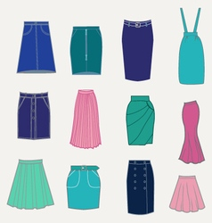 Fashion skirts vector