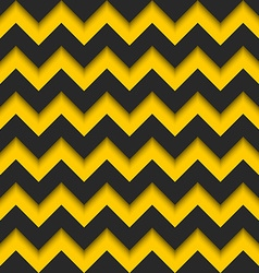 Abstract zigzag seamless pattern black and yellow vector