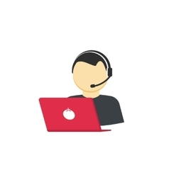 Customer support service assistant call help vector