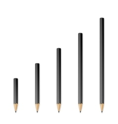 Black wooden sharp pencils vector