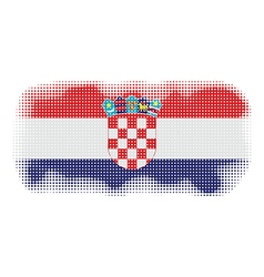 Croatia flag halftone vector