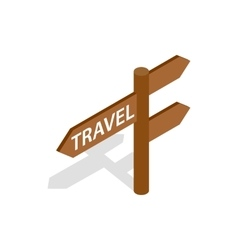 Road sign for travelers icon isometric 3d style vector