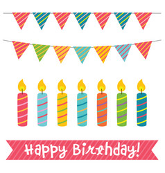 birthday candles and decoration vector image