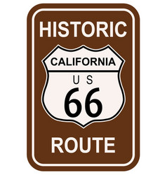 California historic route 66 vector