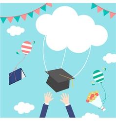 celebrations of graduation vector image vector image