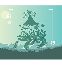 Christmas label with holidays greeting vector image vector image