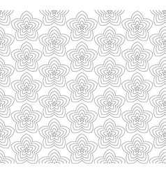 Flowers black and white abstract seamless pattern vector image