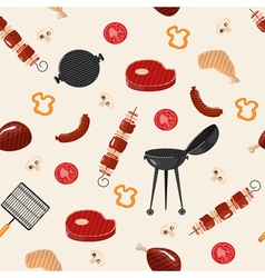 Grill Barbecue Seamless Pattern vector image vector image