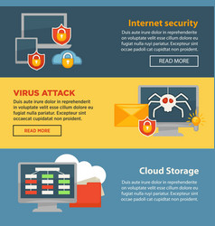 internet security and cloud storage protection vector image vector image