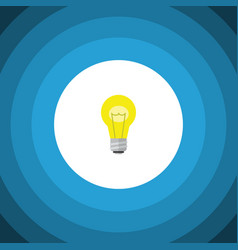 isolated idea flat icon bubl element can vector image vector image