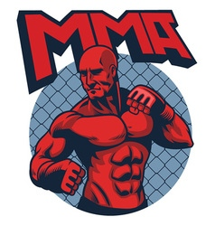 muscle fighter man vector image